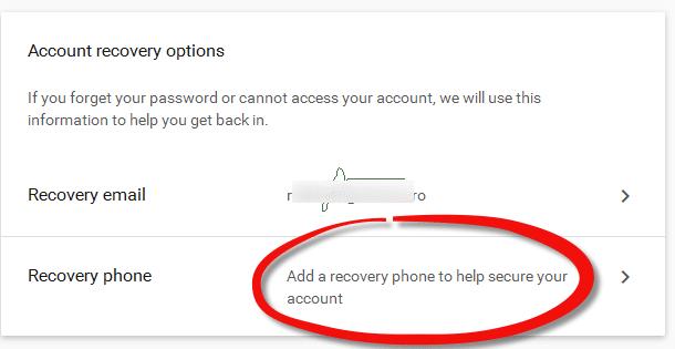 Schimbarea telefonului in gmail pas3 1